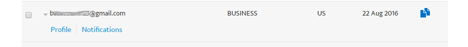 Sandbox test accounts PayPal Developer